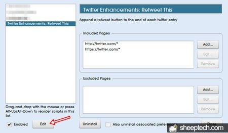 Edit Retweet userscript