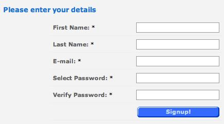 Enter your details in the form provided