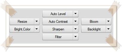 Photoscape adjusting tools