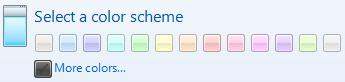 Windows Live Messenger 2009 - Color scheme