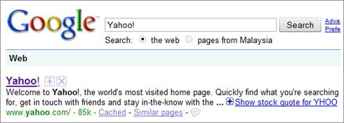 Google for Yahoo!
