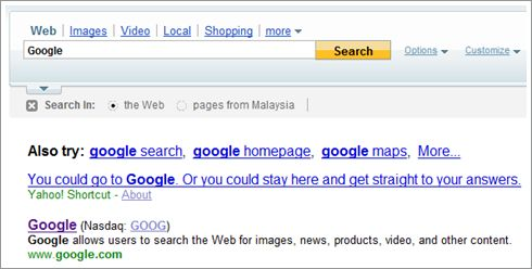 Yahoo! for Google