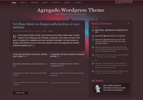 Screenshot: Agregado WordPress Theme