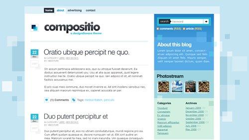 Screenshot: Compositio WordPress Theme