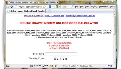 Huawei modem membuka layanan