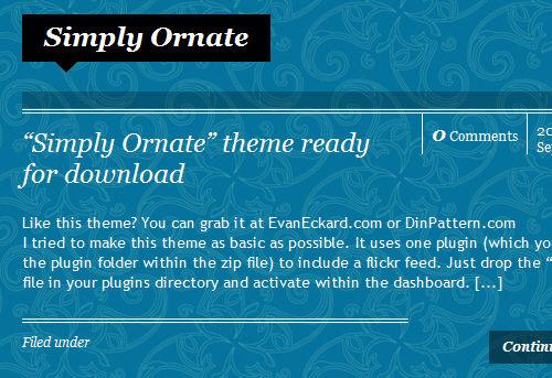 Screenshot: Simple Ornate WordPress Theme