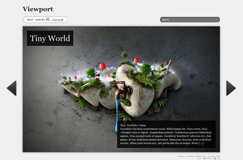 Screenshot: Viewport WordPress Theme