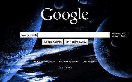 Google homepage custom background