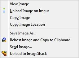 Right-click upload Imageshack Imgur