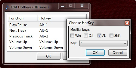 HKTunes user interface