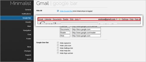 Minimalist Gmail