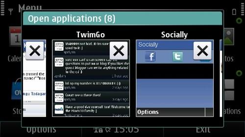 Symbian^3 Nokia E7 Multitasking